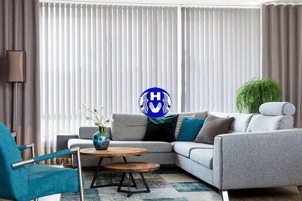 Mẫu rèm dọc lá bằng vải tổng hợp sử dụng nhiều không gian khác nhau
