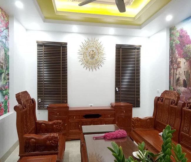 Mẫu rèm mang đến sắc thái tự nhiên cho không gian phòng khách