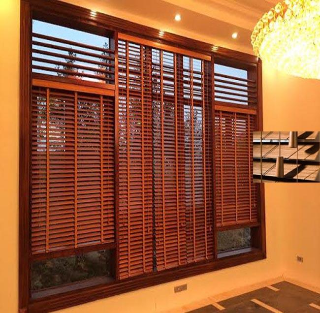 Phụ kiện dây kéo mành gỗ cửa sổ được thiết kế hai bên thuận tiện