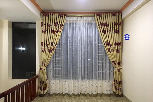 Rèm cửa phong cách vintage dành nhà nhà ống