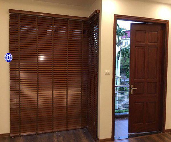 Rèm cửa sổ thanh gỗ hương đỏ nhập khẩu