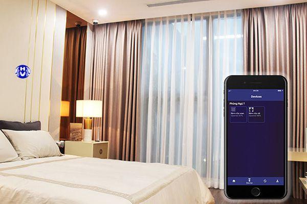 Rèm cửa sổ thông minh điều khiển bằng điện thoại