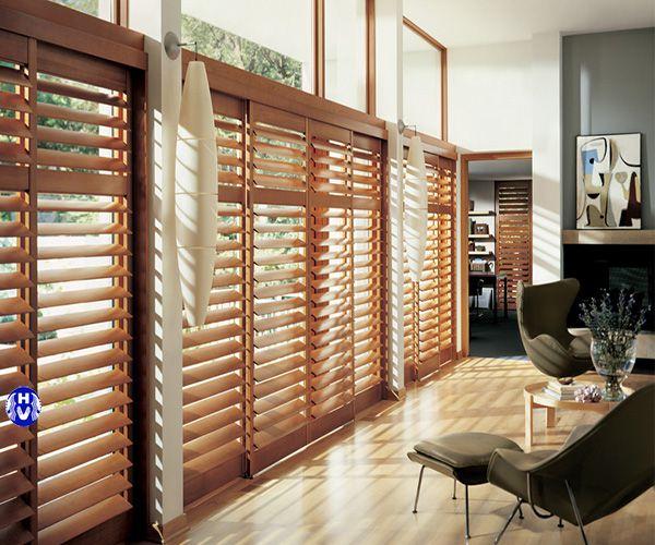 Rèm gỗ cao cấp lắp phòng khách biệt thự