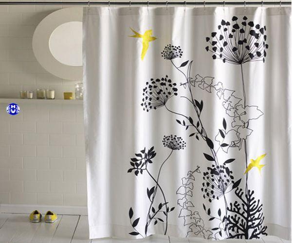 Rèm phòng tắm chống nước chống ẩm in hoa văn