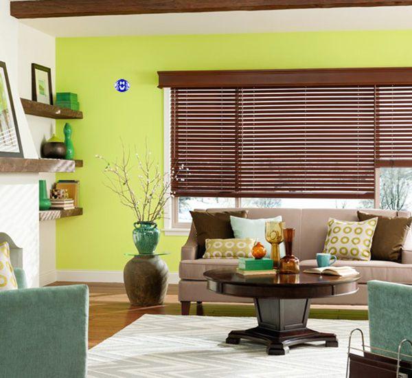 Rèm sáo gỗ cao cấp phòng khách nội thất sáng màu