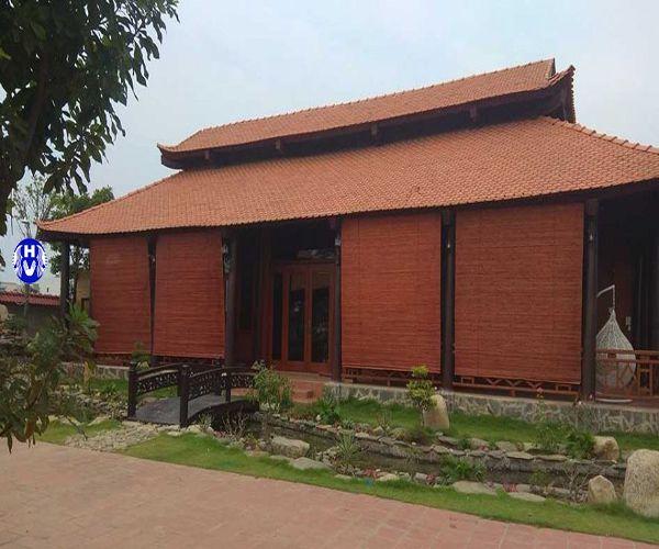 Rèm sáo trúc giá rẻ lắp đền thờ