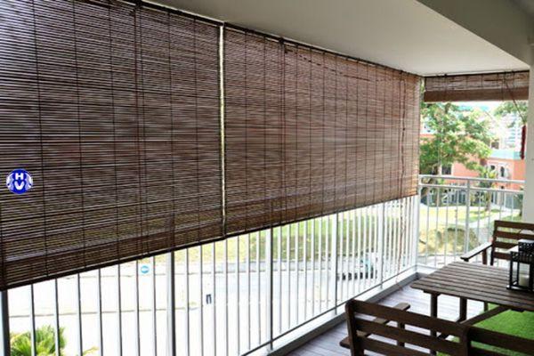 Rèm trúc ngoài trời ban công chung cư che nắng