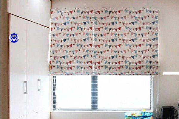 Rèm vải roman hình ngộ nghĩnh trang trí phòng ngủ cho bé