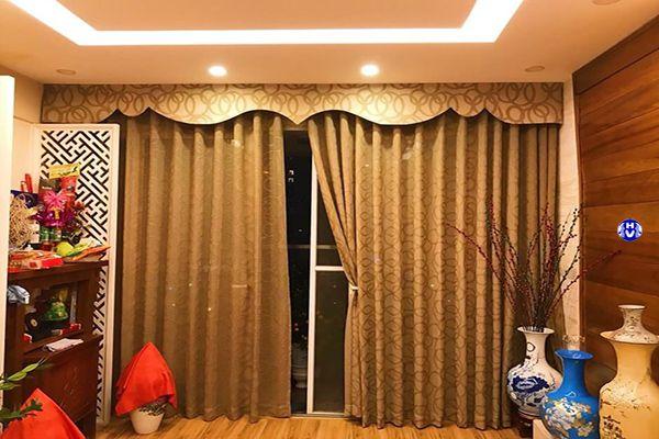 Rèm vintage kết hợp nội thất bắc âu