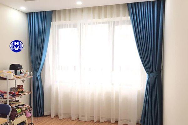 rèm cửa sổ 2 lớp giá rẻ phòng ngủ chung cư