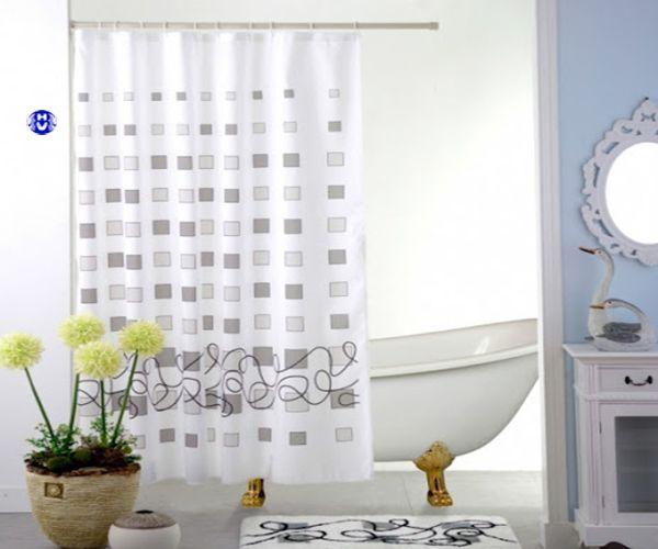 Mẫu rèm nhựa không thấm nước sử dụng trong nhà tắm