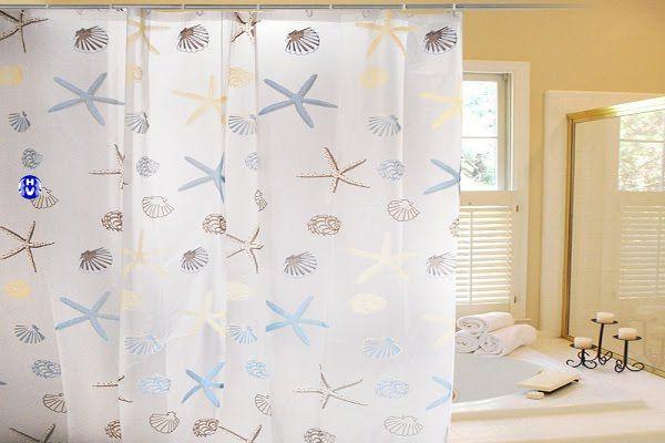 Mẫu rèm phòng tắm khách sạn màu sắc trẻ trung