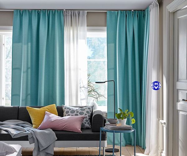 Mẫu rèm vải buông chung cư hiện đại