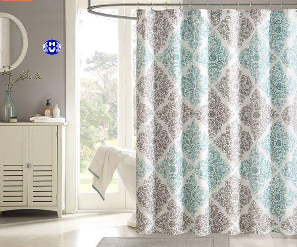 Mẫu rèm vải nhà tắm hoa văn độc đáo