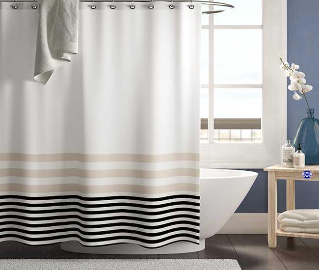 Rèm cửa là thứ không thể thiếu để đảm bảo được sự riêng tư cho nhà tắm