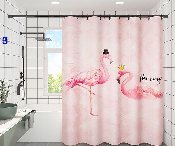 Rèm nhà tắm sử dụng móc treo inox chống rỉ sét