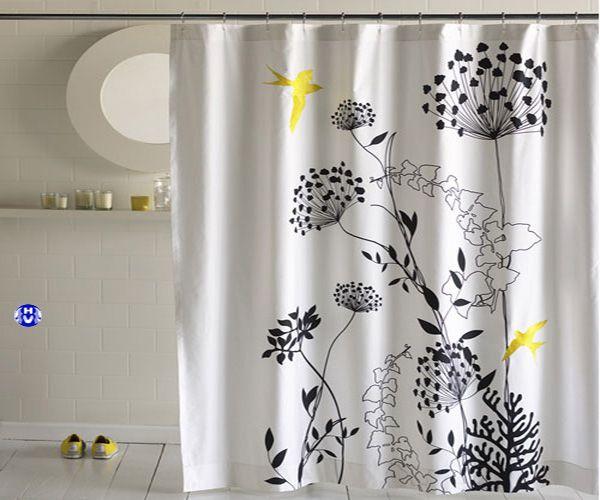Rèm nhựa nhà tắm in hoa văn