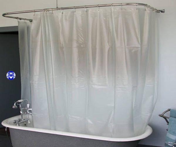 Rèm nhựa sử dụng tắm bồn
