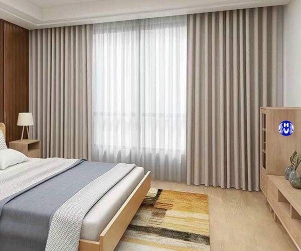 Rèm cửa sổ phòng ngủ màu sắc nhã nhặn dễ phối ga giường