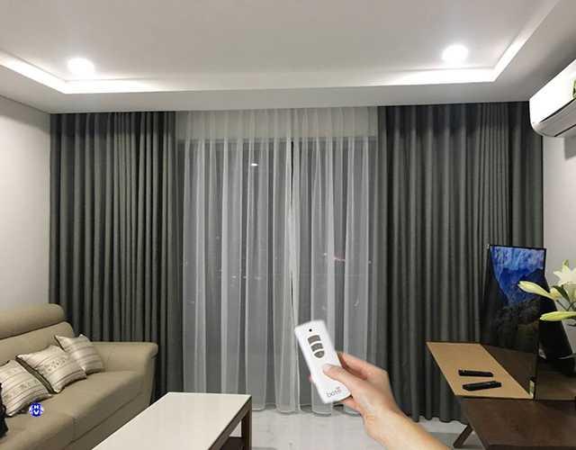 Rèm cửa tự động tăng tính thẩm mỹ cho không gian ngôi nhà của bạn