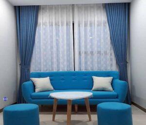 Rèm cửa màu xanh vừa đẹp hợp người mệnh thủy
