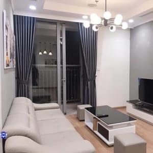 Rèm cửa sổ phòng khách hiện đại màu xám