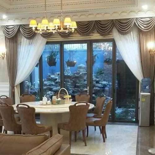 rèm cửa sổ giá rẻ may cách điệu phòng ăn