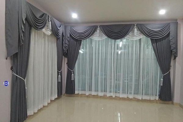 Mẫu rèm cửa theo yêu cầu từ phía khách hàng cho phòng khách