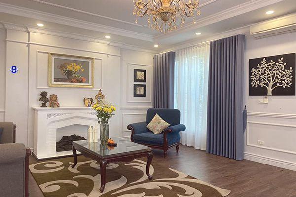 Rèm vải cao cấp hiện đại thiết kế không gian chung cư