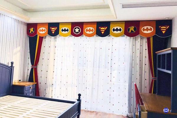 Rèm vải cửa sổ cho trẻ với nhiều hình thù đáng yêu